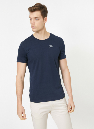 Koton Bisiklet Yaka Kisa Kollu T-Shirt Renkli